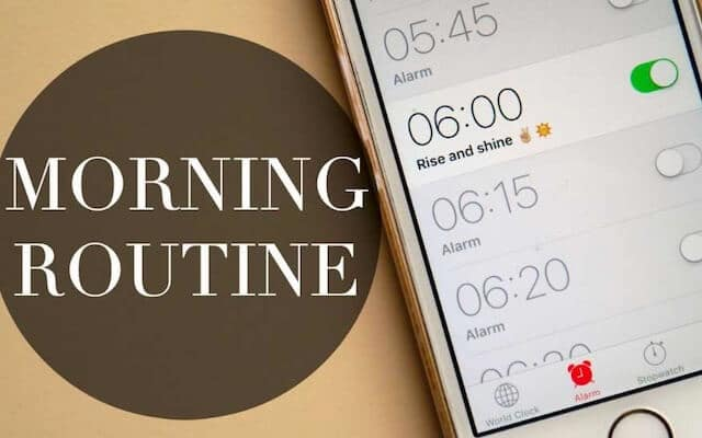 ADHD morning routines